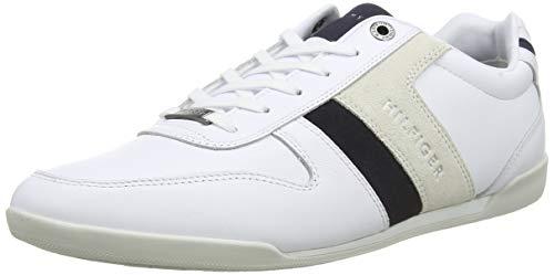 Tommy Hilfiger Herren Premium LO Cupsole Leather Sneaker, Weiß (White Ybs), 44 EU