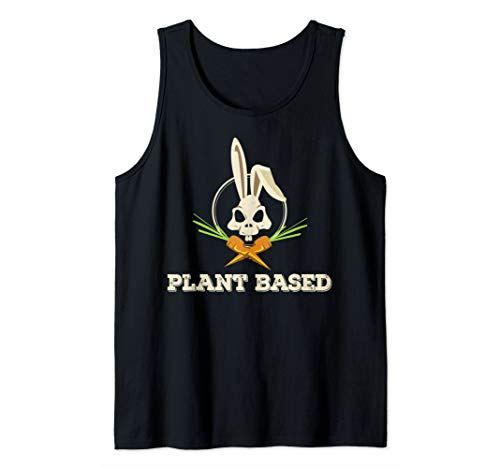 Cooles Vegan Vegetarier Plant Based Hasen Totenkopf Rohkost Tank Top