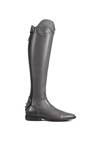 Cavallo Reitstiefel Linus Slim S Nubuk Strass grau Schuhgröße:4-4.5 H49 W36