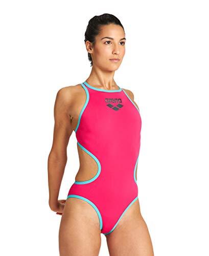 ARENA Damen Arena Biglogo One Piece Swimsuit, Freak Rose-mint, 36 EU