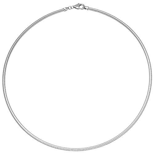 2,8mm Halsreif Reif Omegakette Kette Collier rund 925 Silber 45cm Silberkette Omegareif