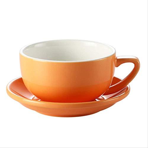 siyao koffie beker kleur glazuur beker koffiebeker schotel professionele competitie reliëf latte Pull Cup 350 Cc grote capaciteit brede mond