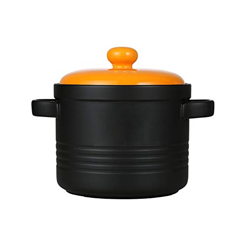 Gusstopf Cocotte casserole en fonte émaillée résistant aux températures élevées avec couvercle, thérapie par ménage et flamme ouverte, résistance aux hautes températures stylename 4.0L Orange