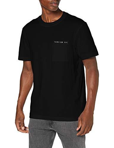 Calvin Klein Jeans Herren Intarsia Pocket Tee Hemd, Ck Black, XXL