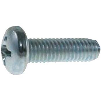50 M6-1.0 X20mm Phillips Pan Head Metric Machine Screws Clipsandfasteners Inc