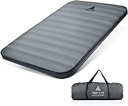 Hikenture 4 INCH Thick Double Self Inflating Sleeping Pad, 9.5 R Camping Mattress 2 Person, Inflatable Foam Camping Pad with Pump Sack, Portable Extra Thickness Comfort Plus Camping Mat for 4-Season