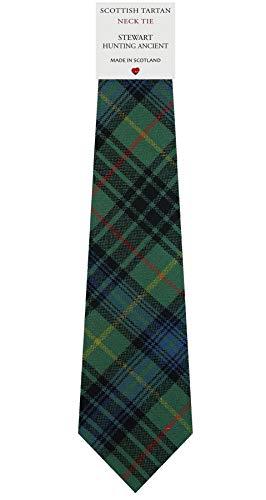 I Luv Ltd Cravate en Laine pour Homme Tissée et Fabriquée en Ecosse à Stewart Hunting Ancient Tartan
