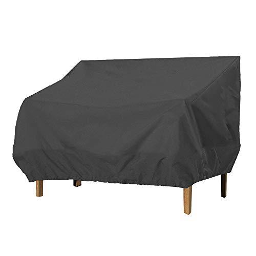 Miuline, copertura per panca da giardino 210D impermeabile Oxford antipolvere UV Patio divano copertura per esterni lungo sedia/Loveseat Lounge copertura nera 193 x 83 x 84 cm
