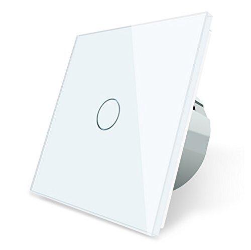 Funk Wechselschalter Kreuzschalter Lichtschalter Touchscreen LIVOLO C701SR-11-A (Weiß)
