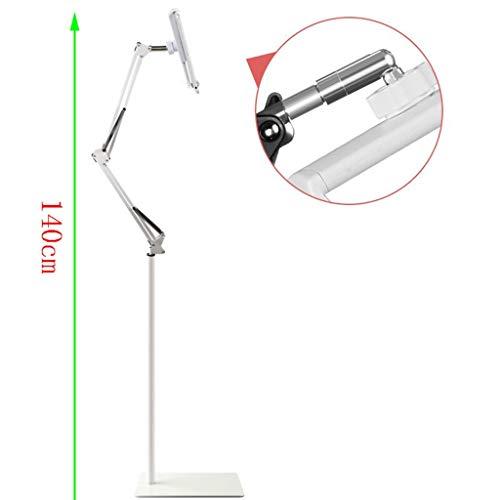 QYLOZ Verstellbarer Telefon- / Tablet-Ständer Mit Teleskop-Höhenverlängerung Und Universal-Breitenhalterung for 4 Bis 11 Zoll Phablets, E-Readers Und Mobiltelefone