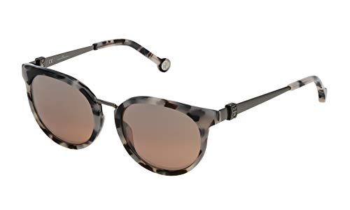 Carolina Herrera Gafas de Sol Mujer SHE754519BBX (Diametro 51 mm), Negro, 51 Unisex-Adult