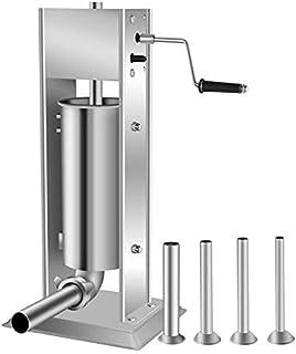 Poussoir à Saucisse Machine Remplisseur Professionnel De Saucisses En Acier Inoxydable (Incl. 5 Buses De Remplissage De 16...