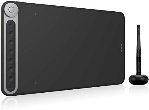 HUION q620m Tableta digitalizadora 5080 líneas por Pulgada 266,7 x 166,7 mm USB Negro