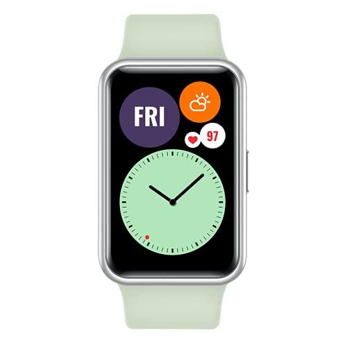 """HUAWEI Watch FIT - Smartwatch con Cuerpo de Metal, Pantalla AMOLED de 1,64"""", hasta 10 días de batería, 96 Modos de Entrenamiento, GPS Incorporado, 5ATM, Color Verde"""