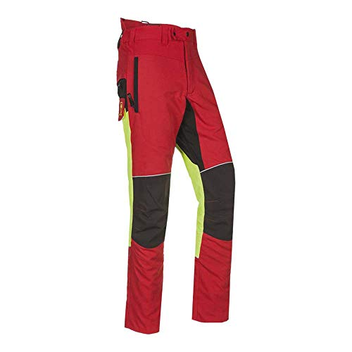 Sioen SI-S-T1SRL CYB L Samourai - Pantalones de motosierra, talla L, 5 unidades, color rojo y amarillo