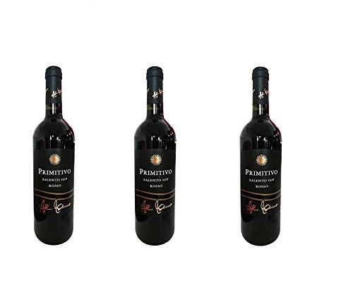 3 Bottiglie Tenute al bano carrisi primitivo Rosso salento igp 3 x 0,75