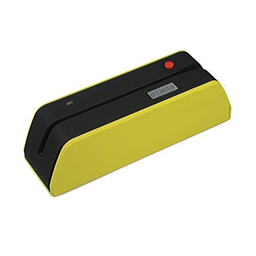 Posunitech amarillo MSR BTX6 PVC lector tarjetas banda