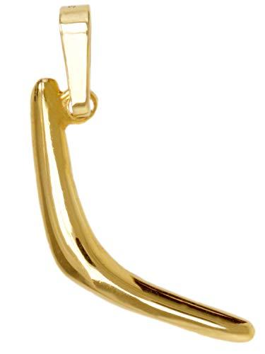 MyGold Bumerang hanger (zonder ketting) geel goud 333 goud (8 karaat) massief gegoten 20 mm x 8 mm boomerang gouden hanger kettinghanger herensieraad trend blogger geschenken voor mannen jongens Joy V0003023