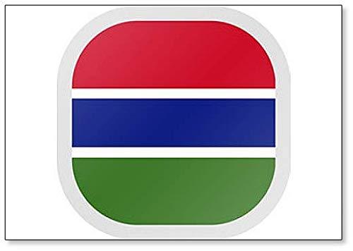 Illustratie vierkante vorm met vlag Gambia Koelkast magneet