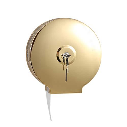 QINGHON Einzelrollen Jumbo-Gewebe-Rollenspender mit Schloss Wand befestigter Badezimmer Papierrollenständer mit Core-Adapter, Gewerbe Toilettenpapierspender, for Haus- und Hotel QINHONG