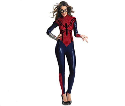 Damen Spider Girl Bodysuit Kostüm Superhelden Halloween Kostüme