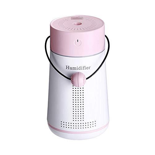 WangLx humidifiers Aroma Diffuser Luftbefeuchter, ≤30db Geräuschreduzierung Design, Befeuchtete Luft Reinigen, Kapazität 250ml, Mit Kleinem USB-lüfter + Licht + Love Message Board, Pink