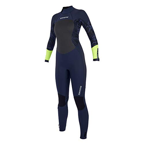 Mystic Womens Diva 4/3mm Back-Zip Wetsuit 2019 - Navy/Lime