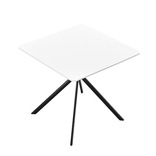 [en.casa] Esstisch - Weiß 78x78x75cm - Küchentisch Esszimmertisch Besprechungstisch...