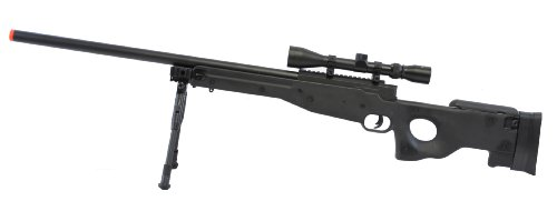 l96 bolt action spring rifle w/ bipod & scope black(Airsoft Gun)