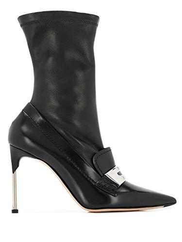 Alexander McQueen Luxury Fashion Damen 586432WHCVD1081 Schwarz Leder Stiefeletten | Jahreszeit Outlet