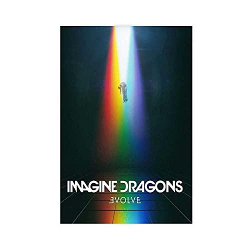 Imagine Dragons Evolve Poster Vintage Art Poster Tela Camera da Letto Decor Sport Paesaggio Ufficio Decorazione Camera Da Letto 40 × 60 cm Unframe: