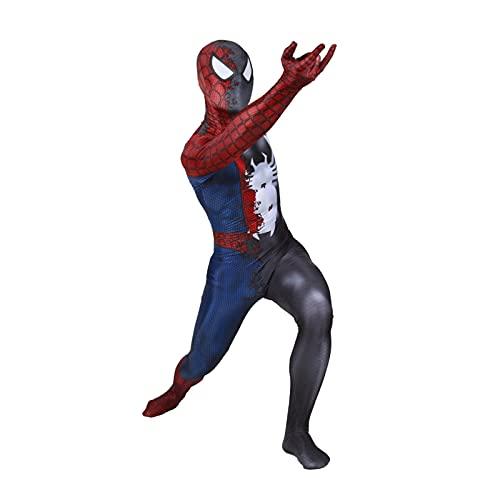 HAOWUTX Papel de superhéroe Jugando MODÍO EXTRAORDINARIO Venom Spiderman PRINCIPANTE 3D Hombres Y Mujeres PELÍCULA DE PELÍCULA AVENGADORES Lycra Spandex (Color : Role Playing, Talla : 170-175cm)