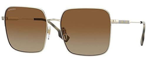 BURBERRY Gafas de Sol JUDE BE 3119 Gold/Dark Brown Shaded 58/17/140 mujer