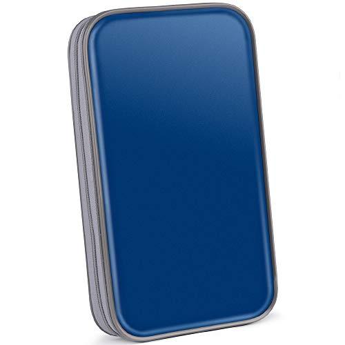 Bageek CD Tasche 80 CD Hüllen DVD Hüllen CD Aufbewahrung DVD Tasche (Mappe zur Aufbewahrung, platzsparend für Auto und Zuhause, Transport-Hüllen) Blue