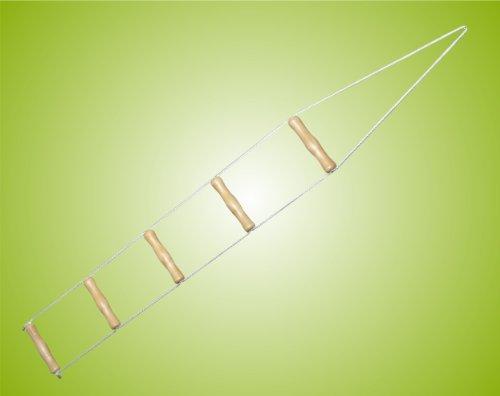 Teckmedi Bettleiter, Strickleiter, Aufrichtehilfe 130 cm lang * Top Qualität*