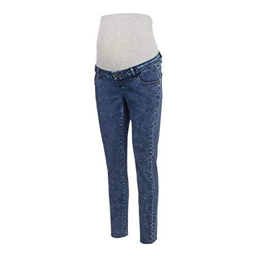 MAMALICIOUS MLVENTURA Cropped Slim Jeans, Azul Denim, 30/32 para Mujer