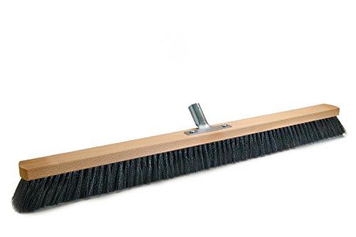 BawiTec Saalbesen mit Metall-Stielhalter Kehrbesen schwarz 28cm 40cm 50cm 60cm Kunsthaar Besen (100cm)