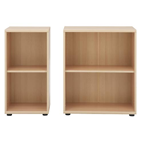 Möbelpartner Aktenregal DELTA | HxBxT 770 x 400 x 340 mm| Buche | Aktenregal Schrank Regal Büroschrank Schiebetürenschrank