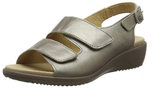 Hotter Women's Elba Sandal Nickel Metallic 8 US Sandals