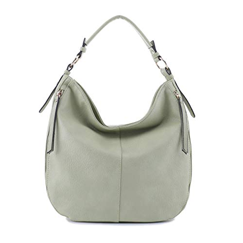DELUXITY Women's Large Fashion Hobo Shoulder Handbag in Pebble Vegan Leather - PIS