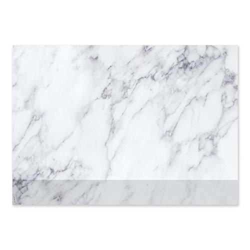 Schreibtischunterlage mit Marmor-Optik und Kantenschutz I DIN A2 I aus Papier zum Abreißen I Schreib-Unterlage neutral, modern, elegant I dv_439