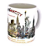 DESSAPT EDITIONS L ART DU SOUVENIR Tazza con Motivo New York