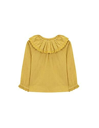Gocco Camisa Cuello Volante Blusa, Amarillo (Mostaza Yf), 12-19 Meses para Bebés