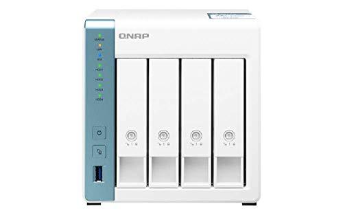 QNAP TS-431P3-2G 4 Bay Desktop NAS Gehäuse - Netzwerkspeicher mit 2.5GbE Konnektivität , 2GB RAM, Quad-Core 1.7GHz Prozessor - mit funktionsreichen Anwendungen für Heim und Büro
