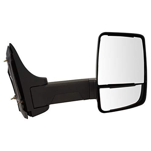 Tow Mirror Manual Textured Black Passenger Side Right RH for 2003-2018 Chevy Express / 2013-2018 GMC Savana / 2500 & 3500 Cutaway Van Box Truck