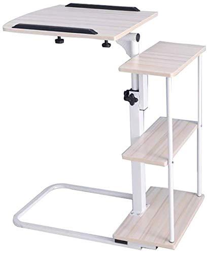 XHLLX Mobil Schreibtisch Folding, Forliving Zimmer Schlafzimmer Schlafsofa Laptop-Schreibtisch Mit Storage Magazine Rack Snack Tisch Computerstand,B