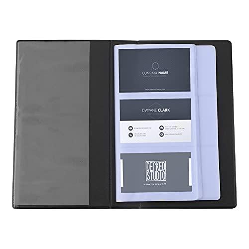 tarjeteros de visita,organizador de carpetas de anillas de tarjeta de crédito con inserción de billetera de 150 páginas,Portatarjetas De Visita de 50 páginas,Portatarjetas De Visita De Oficina negro