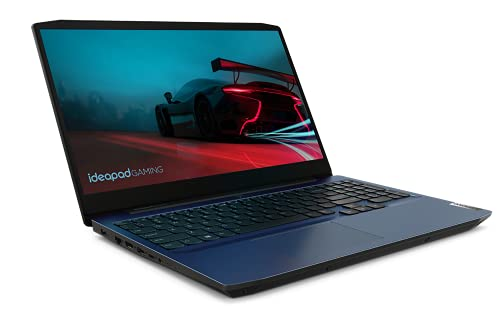 Lenovo IdeaPad Gaming 3 - Portátil Gaming 15.6' FullHD (AMD Ryzen 7 4800H, 16GB RAM, 512GB SSD, NVIDIA GTX1650-4GB, Sin Sistema Operativo), Color Azul- Teclado QWERTY Español