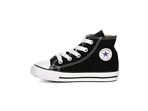 Converse All Star Chuck Taylor HI TOP Black 7J231 Unisex Infant Toddler Shoes US Size 2