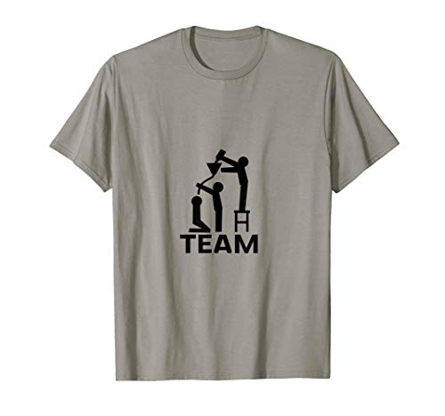 Bier Trichter Bierbong Team T-Shirt